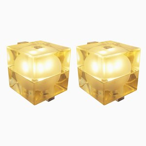 Green Cubo Sfera Wall Lights by Alessandro Mendini, 1968, Set of 2