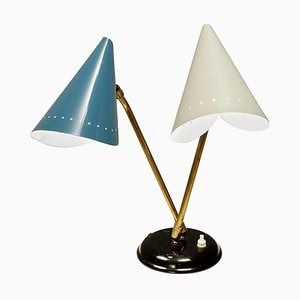 Mid-Century Dual Cone Table Lamp