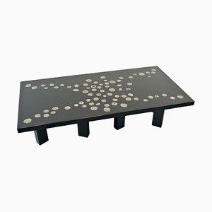 Tavolo in resina laccata nera di Ado Chale, Belgio, anni '70