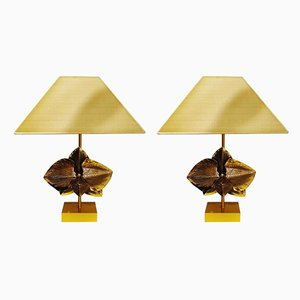 Table Lamps in Bronze from Charles Maison, France, 1980s, Set of 2