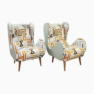 Italian Mulberry Home Spring Collection Upholstery Armchairs, 1960s, Set of 2