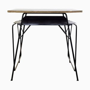 Formica, Metal & Wood Desk by Willy van der Meeren for Tubax, 1950s