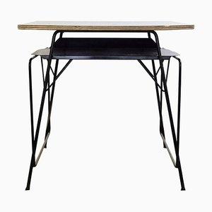 Formica, Metall & Holz Schreibtisch von Willy van der Meeren für Tubax, 1950er