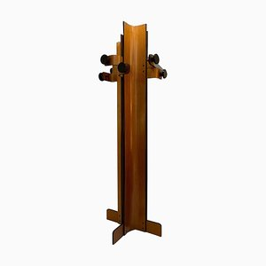Coat Rack in Multiplex Curved Wood by Carlo Graffi, 1960s