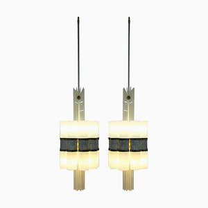 German Ceiling Lamps, 1980s, Set of 2