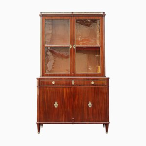 19th Century German Mahogany Display Cabinet