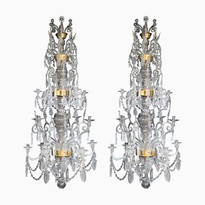 18th Century Inspired Liege Belgium Glass Chandelier