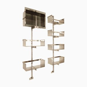 Chrome Modulable Shelving System by Vittorio Introini for Saporiti, Italy, 1969