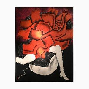 Birkin Abstraite sur Colombo par Georges Collignon, 1969