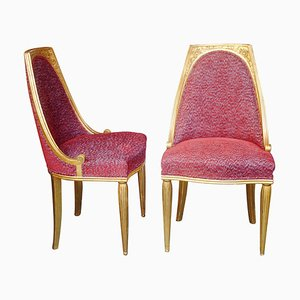 French Art Deco Chairs Attributed to M. Dufrène, 1920s, Set of 2