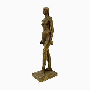 Nu D'Anael Wax Bronze Casting by André Del Debbio, Valsuani Foundry, 1940s