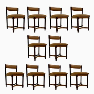 Italian Dining Chairs, 1970s, Set of 10
