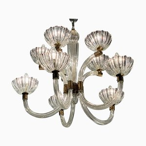 2-Floor Murano Glass Chandelier, 1970s
