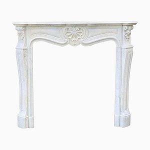 Louis XV Style Carrara Marble Fireplace