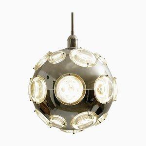 Lampe à Suspension Globe Space Age par Oscar Torlasco pour Stilkronen, 1960s