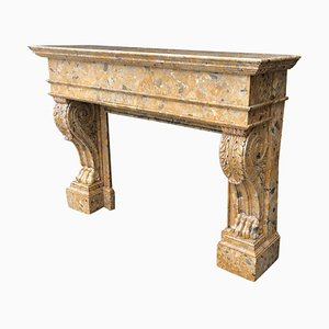 19th Century Marble Fireplace Breche d'Alep