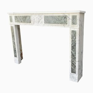 18th Century Carrara Marble Fireplace and Green Seas
