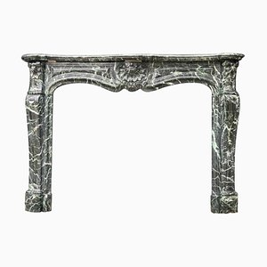 Antique Louis XV Style Green Marble Fireplace