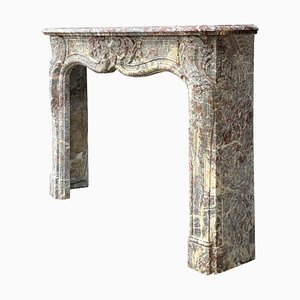 19th Century Louis XV Fireplace In Gray Ardennes Marble
