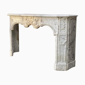 18th Century Carrara Marble Fireplace