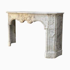 18th Century Carrara Marble Fireplace