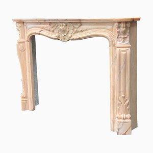 Louis XV Style Fireplace in Pink Marble