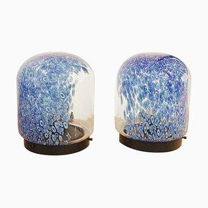 Lámparas de mesa de cristal de Murano de Gae Aulenti para Vistosi, años 70. Juego de 2