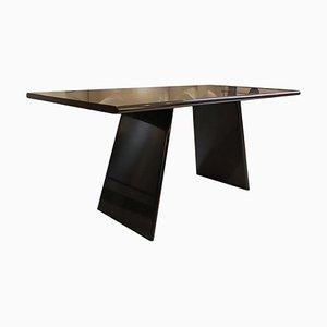 Table Asolo en Granite Noir par Angelo Mangiarotti, Italie, 1970s