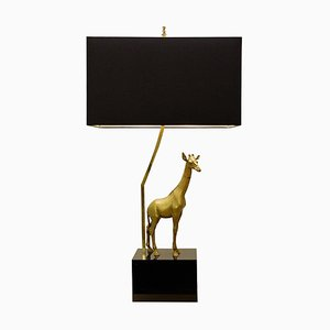 Giraffe Brass Table Lamp, 1960s