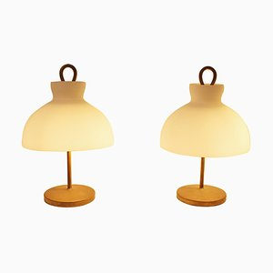 Model Arenzano LTA3 Table Lamps by Ignazio Gardella for Azucena, Italy, 1960s, Set of 2