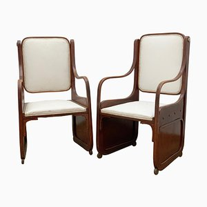 Viennese Secession Bentwood Armchairs by Koloman Moser, 1900s, Set of 2