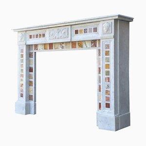 Napoleon III Carrara Marble and Statuary White Marble Fireplace