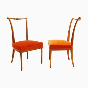 Esszimmerstühle von André Arbus, France, 1950er, 2er Set