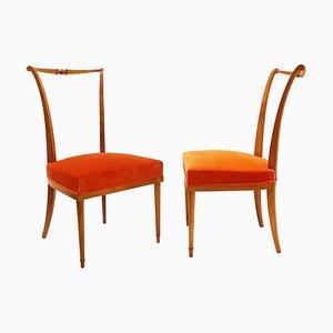 Sedie da pranzo di André Arbus, Francia, anni '50, set di 2