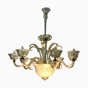Murano Glass Chandelier, 1940s