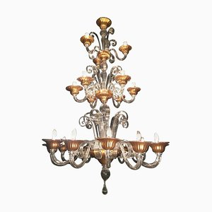 Art Deco Venetian Chandelier, 1940s