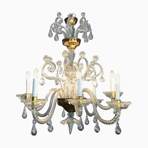 Antique Liègeois Glass Chandelier