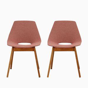 Modell Tonneau Stühle von Pierre Guariche für Steiner, 2er Set