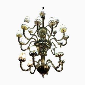 Venetian Murano Glass Chandelier, Italy, 1980s