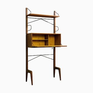 Italian Freestanding Shelving Unit, 1960s