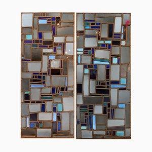 Vetro colorato, anni '70, set di 2