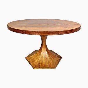 Mesa de comedor redonda de palisandro de Carlo de Carli, años 60