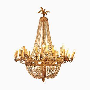Large Empire Style Sac À Perles Chandelier