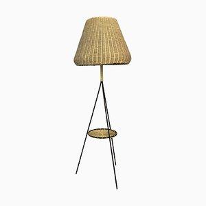 Mid-Century Rattan Floor Lamp