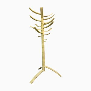Sculptural White Lacquered Wood Coat Rack by Bruce Tippett Renna, 1970s
