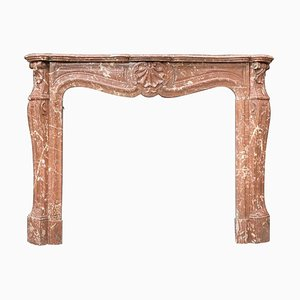 Louis XV Style Rance Marble Fireplace