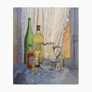 Dipinto di natura morta su tela di Victor Petré, Belgio, anni '60