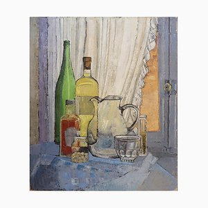 Still Life Painting on Canvas by Victor Petré, Belgium, 1960s