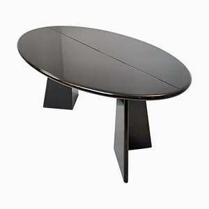 Takahama Antella Console Table in Black Lacquered Wood, 1980s