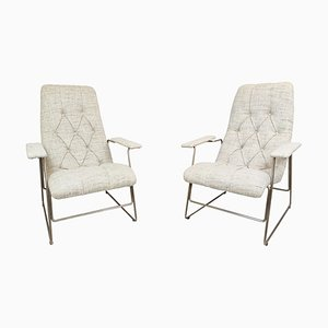 Italian Armchairs with Adjustable Seat Position, 1960s, Set of 2